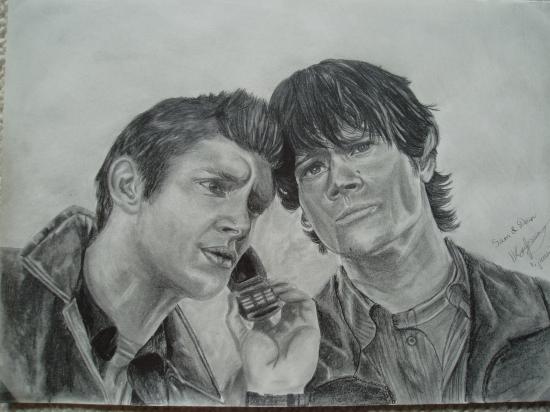 Jensen Ackles, Jared Padalecki by Sillulillu